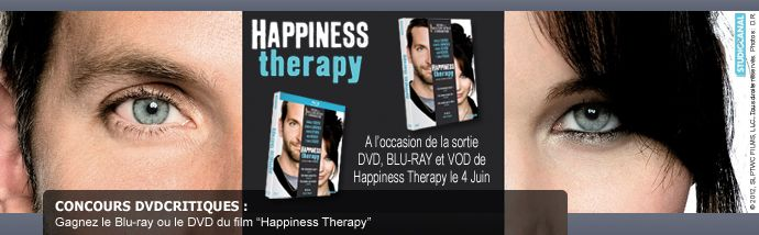 Gagnez le Blu-ray ou DVD du film Happiness therapy